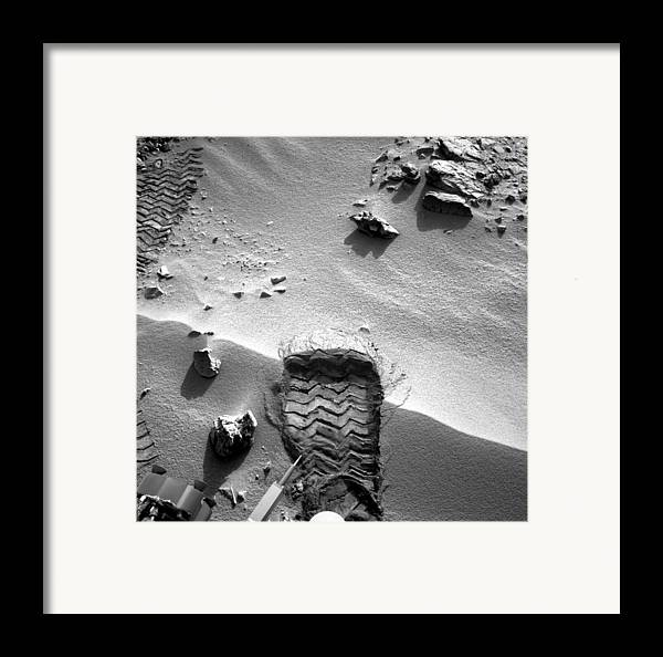 3 October Framed Print featuring the photograph Rocknest Site, Mars, Curiosity Image by Science Photo Library
