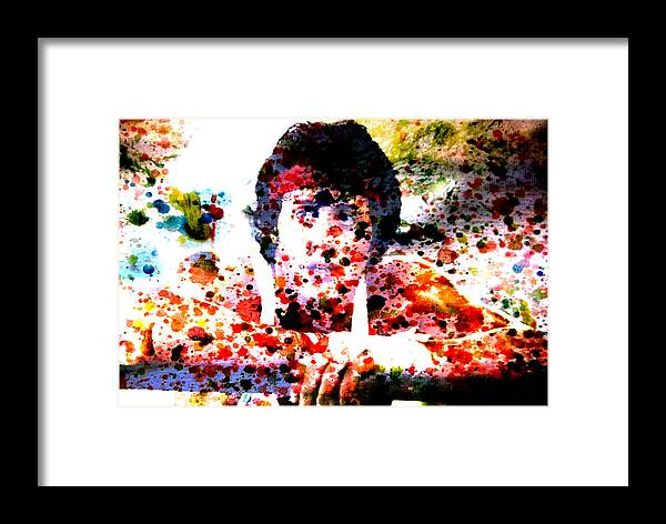 Rocky Framed Print featuring the painting Rocky by Brian Reaves