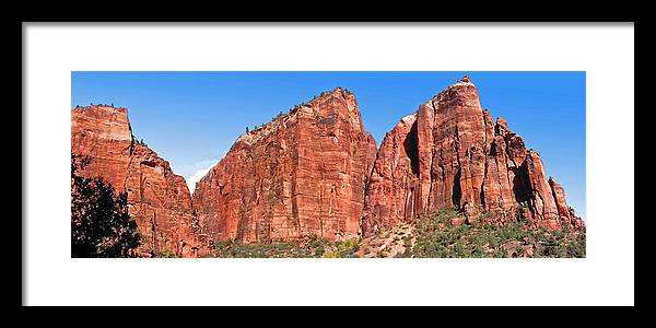 Rocky Cliffs Framed Print featuring the photograph Rocky Mountains Of Zion by Duane McCullough
