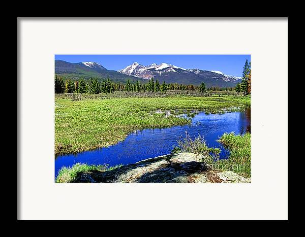 Colorado Framed Print featuring the photograph Rocky Mountains River by Olivier Le Queinec