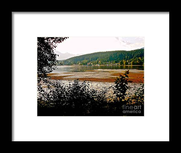 Low Tide At Rocky Point Framed Print featuring the photograph Rocky Point Port Moody by Sher Nasser