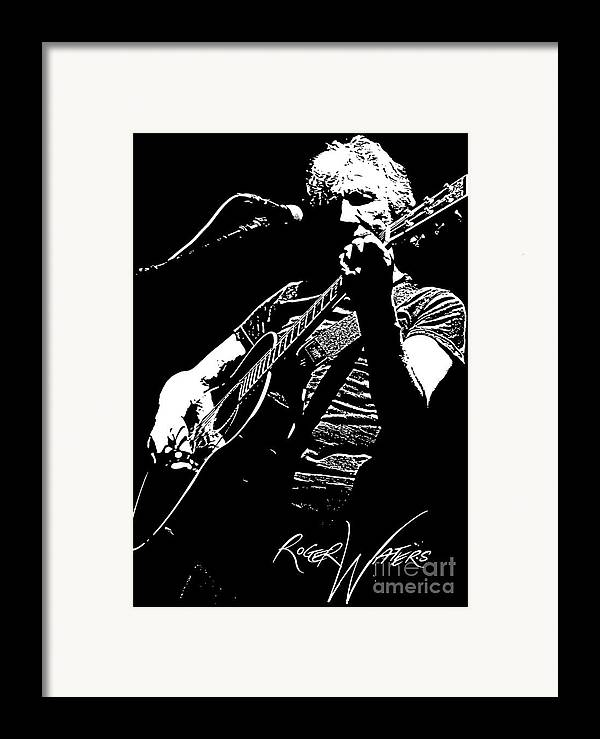 Roger Waters Framed Print featuring the digital art Roger Waters No.01 by Caio Caldas