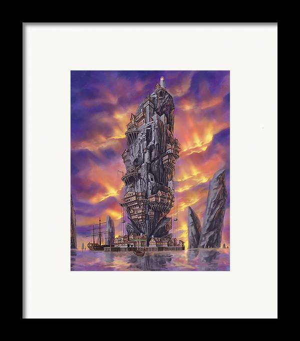 Fantasy Framed Print featuring the digital art Rogue Haven by Bryan Syme