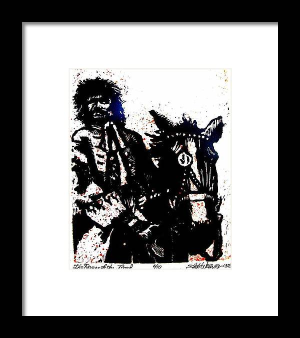English Highwayman Framed Print featuring the mixed media Rogue of the Road by Seth Weaver