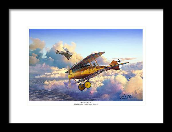 Roland D.vi Framed Print featuring the painting Roland D.VIb by Mark Karvon