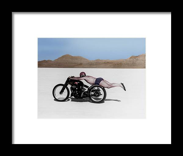 Rollie Free Framed Print featuring the photograph Roland Rollie Free by Mark Rogan
