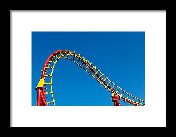 Amusement Framed Print featuring the photograph Roller Coaster Curve by Stephan Stockinger