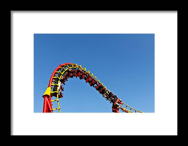 Amusement Framed Print featuring the photograph Roller Coaster Ride by Stephan Stockinger