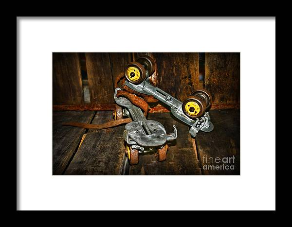 Paul Ward Framed Print featuring the photograph Roller Skates Vintage 4 by Paul Ward
