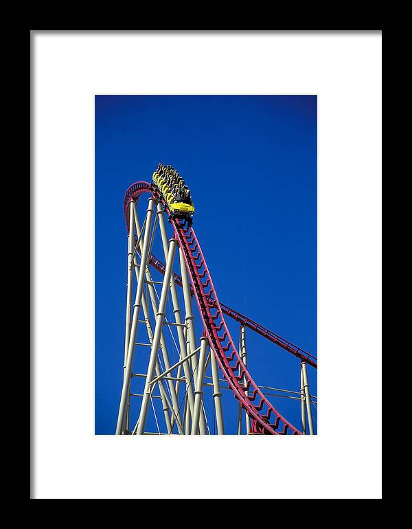 Amusement Framed Print featuring the photograph Rollercoaster by Richard Hansen