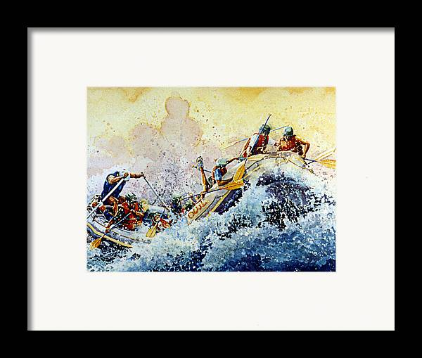 Sports Art Framed Print featuring the painting Rollin' Down The River by Hanne Lore Koehler