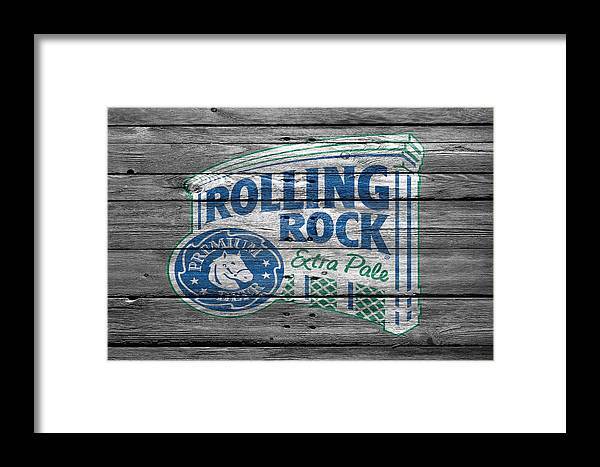Rolling Rock Framed Print featuring the photograph Rolling Rock by Joe Hamilton