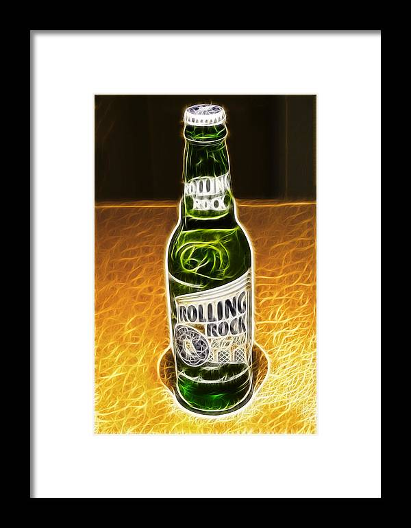 Rolling Rock Beer Framed Print featuring the photograph Rolling Rock Light by Prism Light Studios