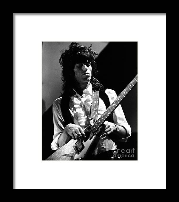 Rolling Stones Framed Print featuring the photograph Keith Richards Rolling Stones 1969 by Chris Walter