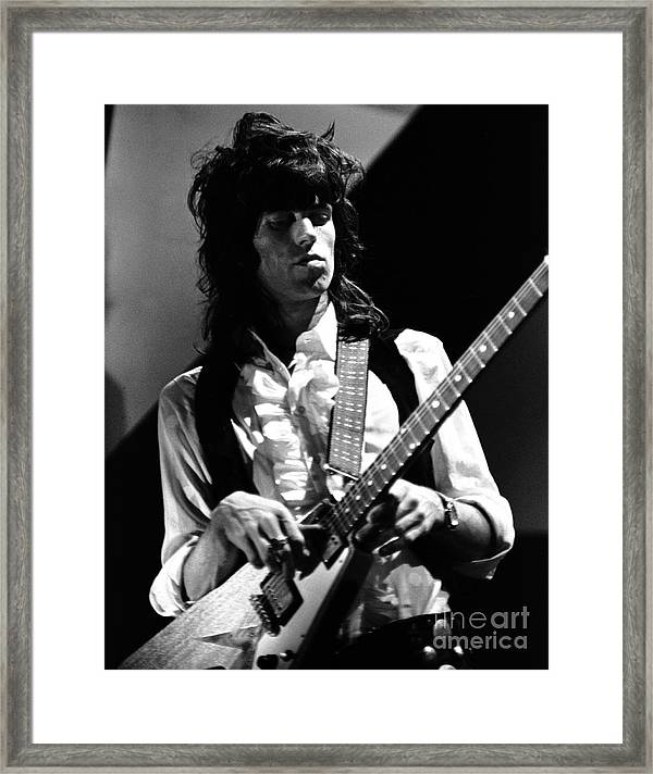 Rolling Stones Keith Richards 1969 Framed Print By Chris