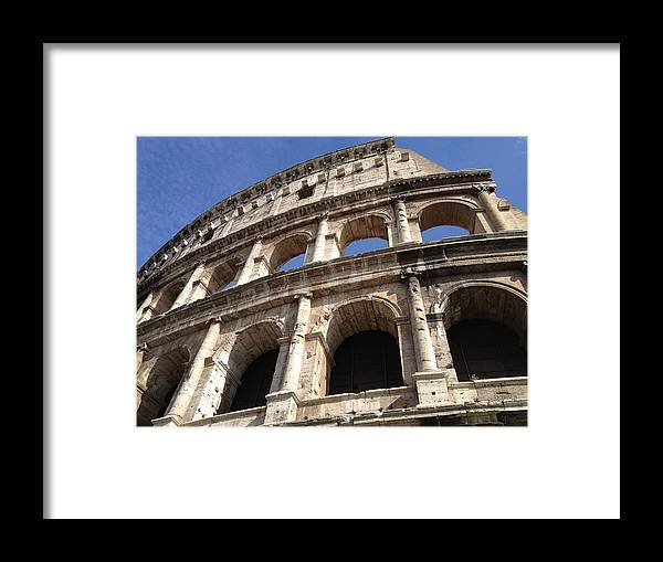 Photo Framed Print featuring the photograph Roman Colosseum by Tilen Hrovatic