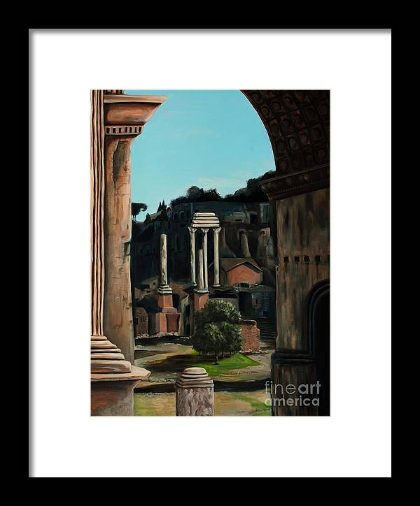 Rome Framed Print featuring the painting Roman Forum by Nancy Bradley