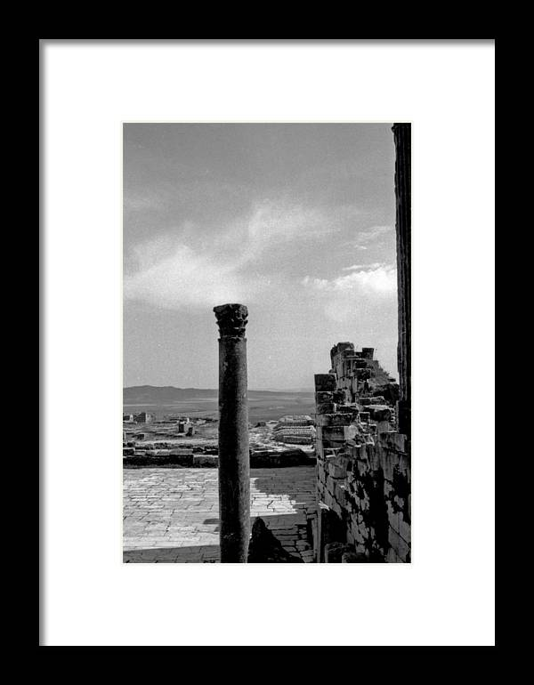 Roman Ruin Framed Print featuring the photograph Roman Ruin Eleven by James Bryant