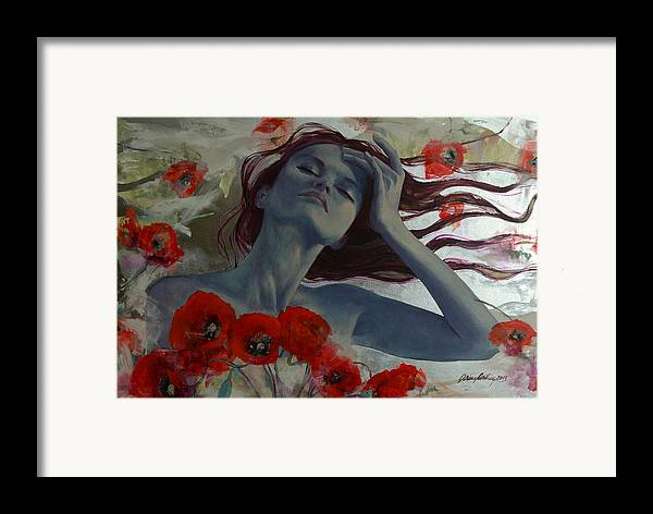 Art Framed Print featuring the painting Romance Echo by Dorina Costras