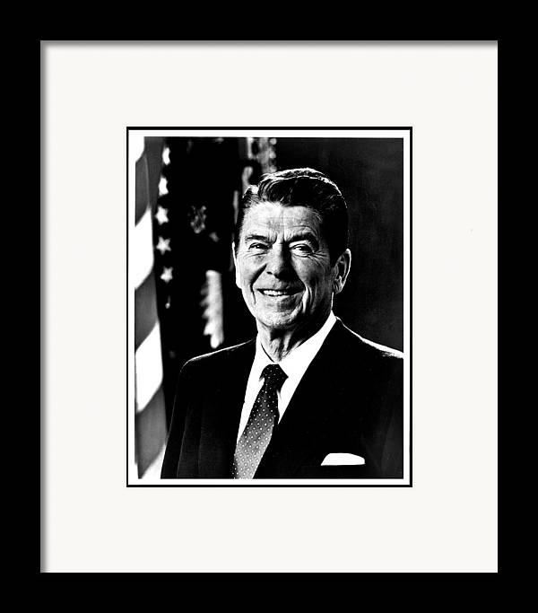 Ronald Framed Print featuring the photograph Ronald Reagan by Benjamin Yeager