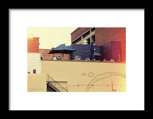 Popular Framed Print featuring the photograph Rooftop Lunch by Paulette B Wright