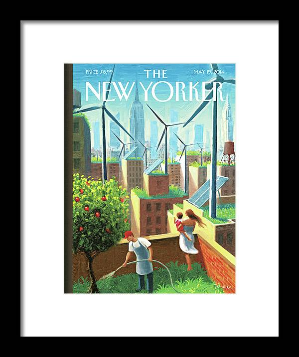 New York City Framed Print featuring the painting A Bright Future by Eric Drooker