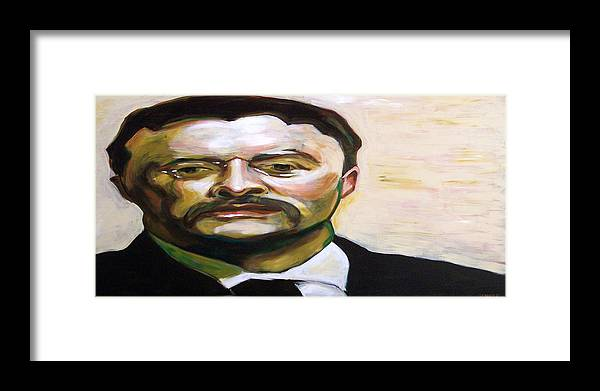 Teddy Framed Print featuring the painting Roosevelt by Buffalo Bonker