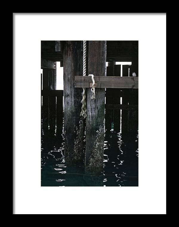 California Framed Print featuring the photograph Rope On A Piling by Matt Swinden