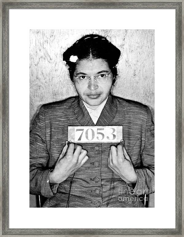 Rosa Parks Framed Print By Unknown