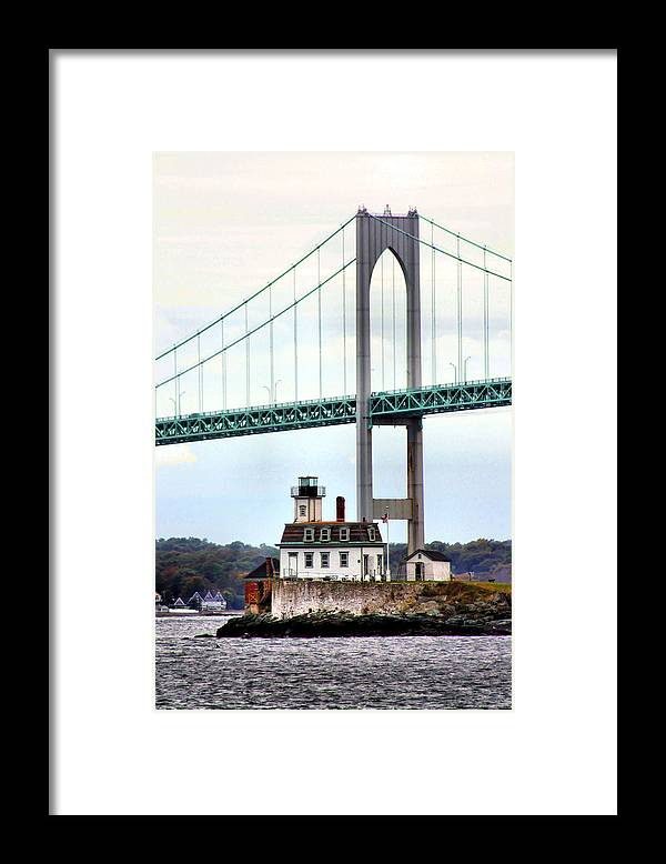 Rose Island Lighthouse Framed Print featuring the photograph Rose Island Lighthouse by Kristin Elmquist
