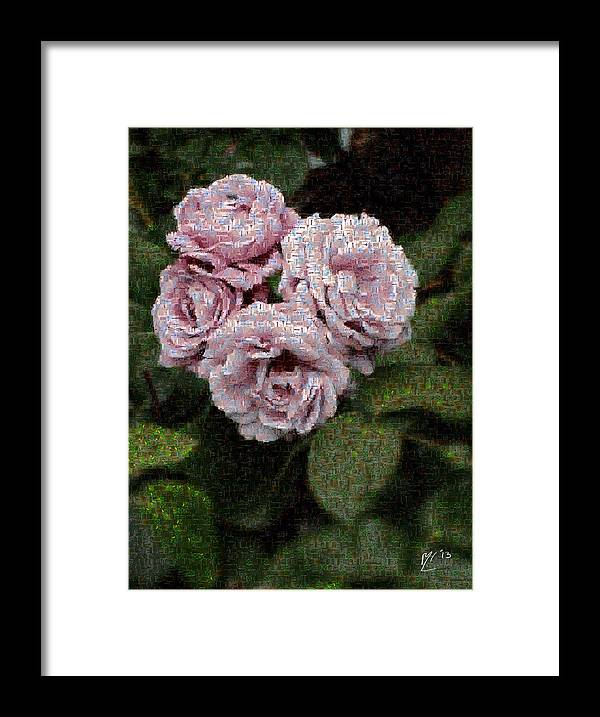 Framed Print featuring the photograph Rose Mosaic 1 by Malcolm-Luther Harkness