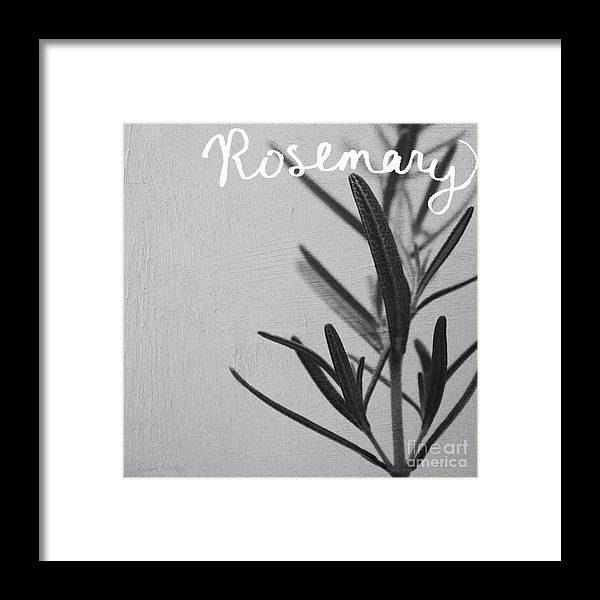 Rosemary Framed Print featuring the mixed media Rosemary by Linda Woods