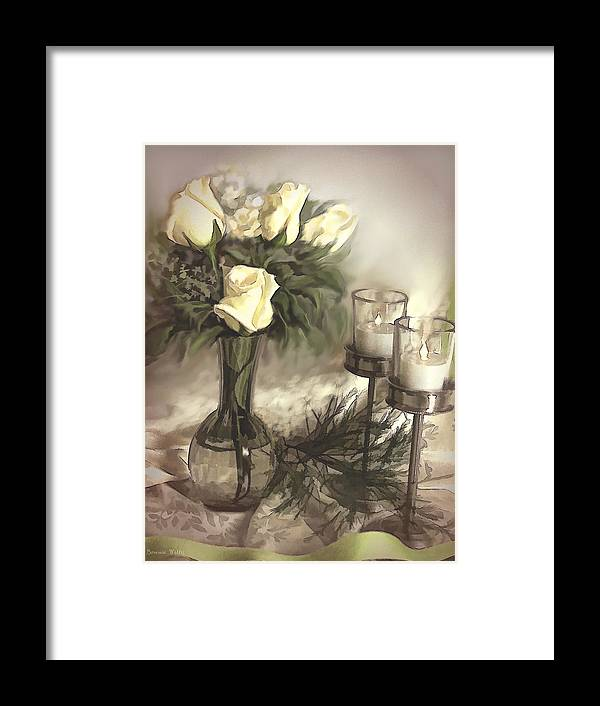 Roses Framed Print featuring the photograph Roses Are Yellow by Bonnie Willis