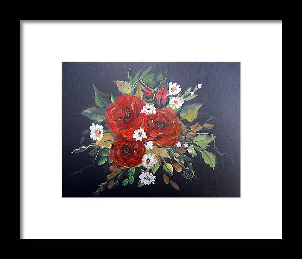 Roses Framed Print featuring the painting Roses by Dorothy Maier