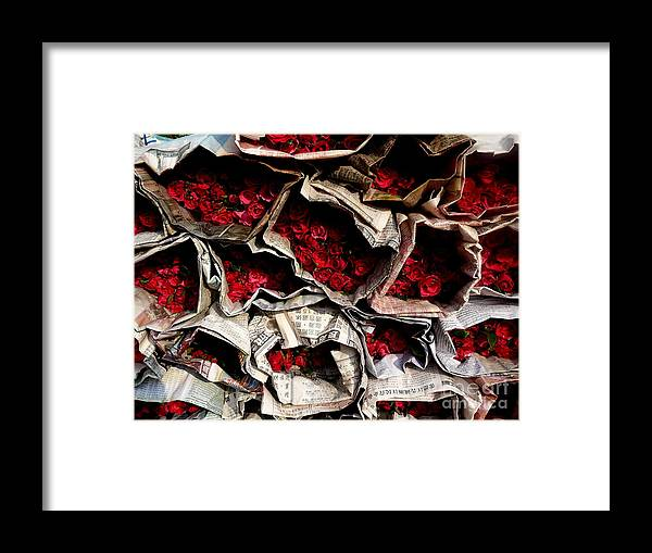 Bangkok Chinatown Framed Print featuring the photograph Roses For Sale by Eclectic Captures