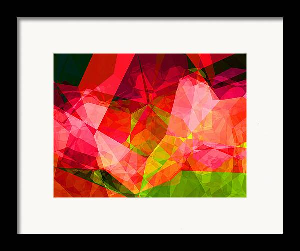 Abstract Framed Print featuring the digital art Roses by Wendy J St Christopher