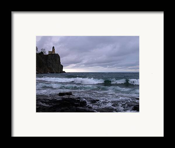 Nature Framed Print featuring the photograph Rough Surf At Split Rock by James Peterson