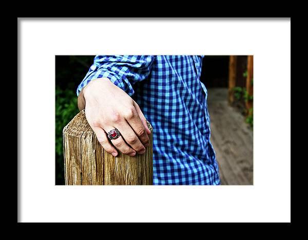 Brett Herr Framed Print featuring the photograph Roughlock Hand by Michele Richter