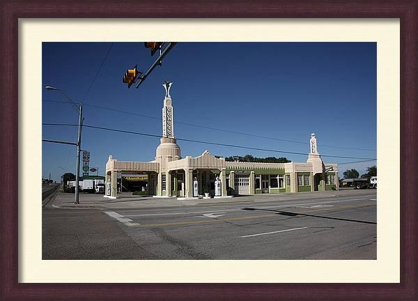Route 66 - Shamrock Texas by Frank Romeo