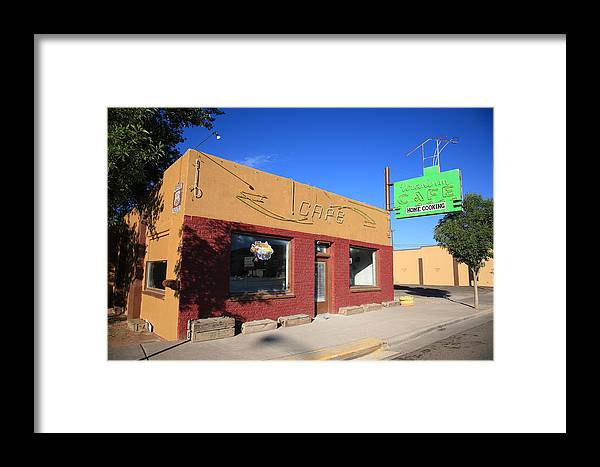 66 Framed Print featuring the photograph Route 66 - Uranium Cafe by Frank Romeo