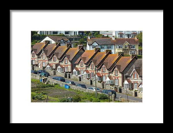 Row House Framed Print featuring the photograph Row Of Houses by Allan Baxter
