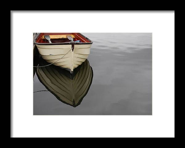 Rowboat Framed Print featuring the photograph Rowboat by Jani Freimann