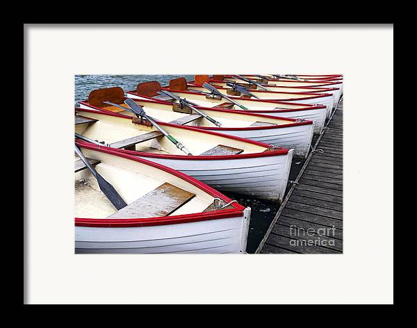Boat Framed Print featuring the photograph Rowboats by Elena Elisseeva
