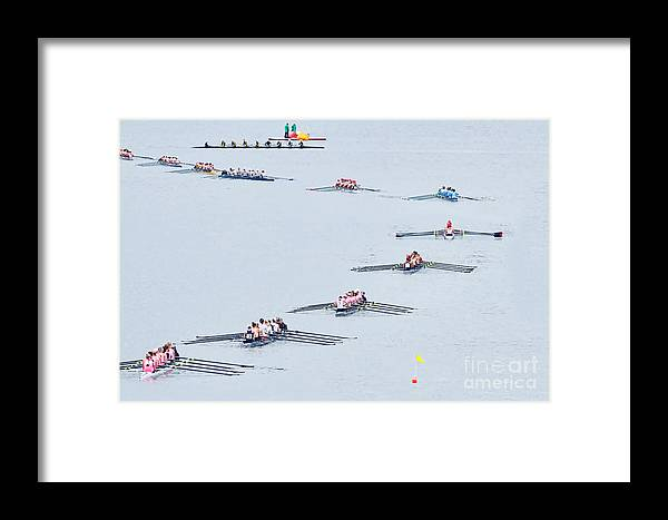 Rowers Arc Framed Print featuring the photograph Rowers Arc-natural by Gary Holmes