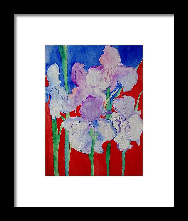 Bold Framed Print featuring the painting Royal Iris by Phoenix Simpson