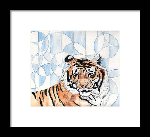 Tiger Framed Print featuring the painting Royal Mysticism by Crystal Hubbard