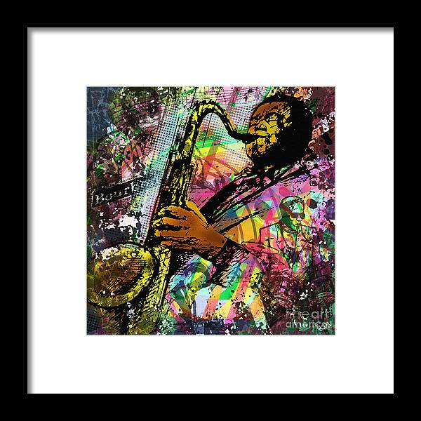 Jazz Framed Print featuring the painting Royal Sonesta Jazz Playhouse by Kevin Rogerson