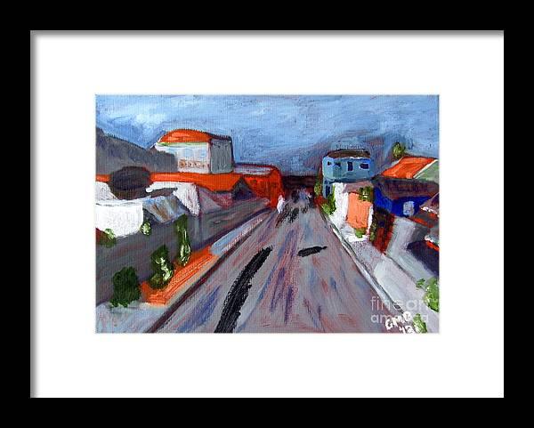 Curitiba Framed Print featuring the painting Rua Dr Rafael Ribeiro Study IV by Greg Mason Burns