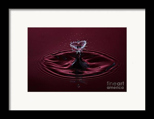 Water Framed Print featuring the photograph Rubies And Diamonds by Susan Candelario