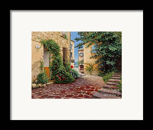 French Village Framed Print featuring the painting Rue Anette by Michael Swanson